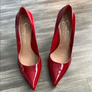 Jessica Simpson red patent leather heels